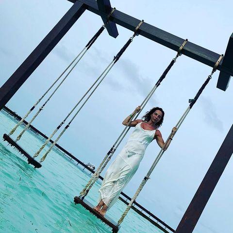 María Patiño en su luna de miel en Sri Lanka
