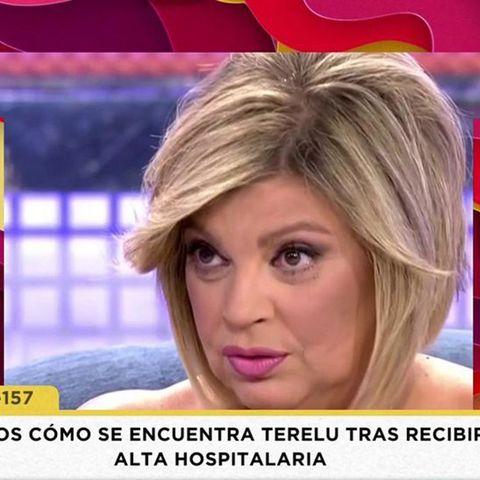 María Patiño se emociona al hablar de cómo se encuentra Terelu Campos tras recibir el alta