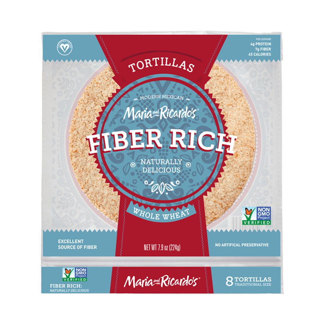 Maria and Ricardos Fiber Rich Whole Wheat Tortilla