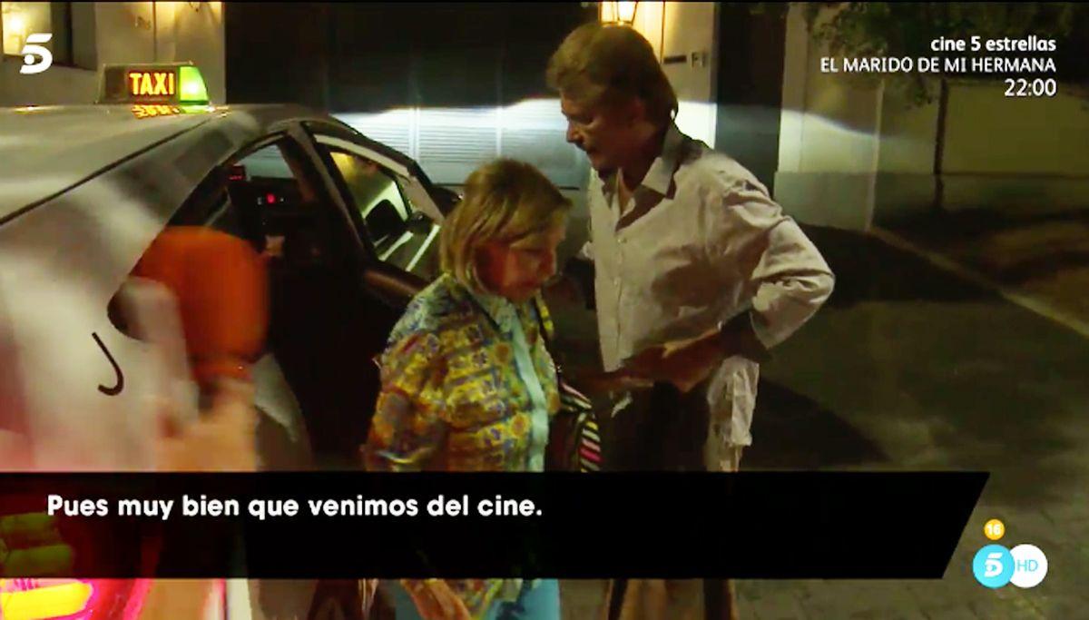 María Teresa Campos y Edmundo Arrocet, primeras imágenes en Madrid