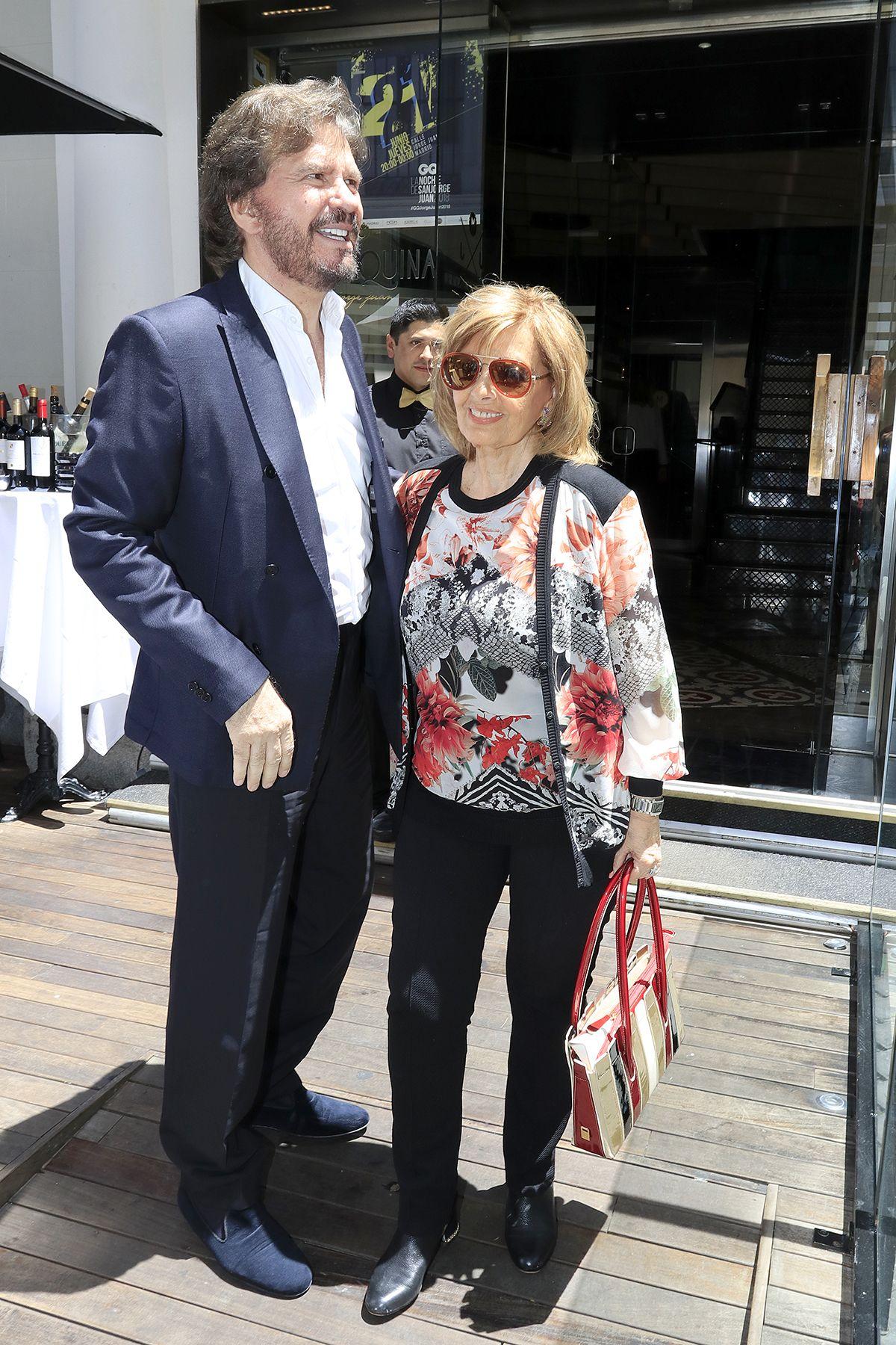 María Teresa Campos y Edmundo Arrocet celebran juntos el 77