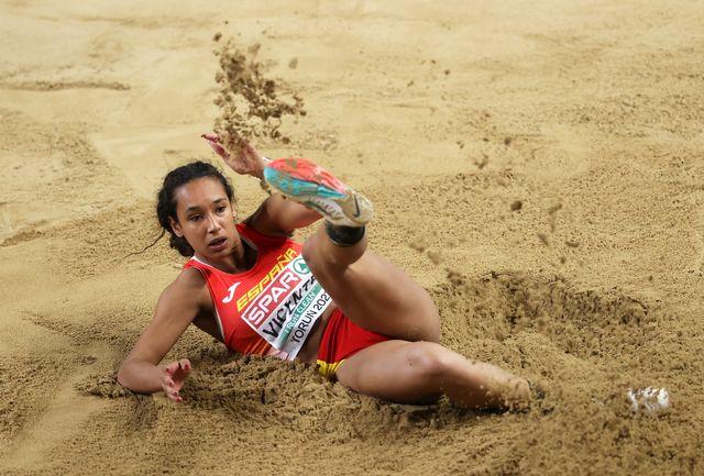 la atleta maría vicente en el campeonato europeo de atletismo indoor