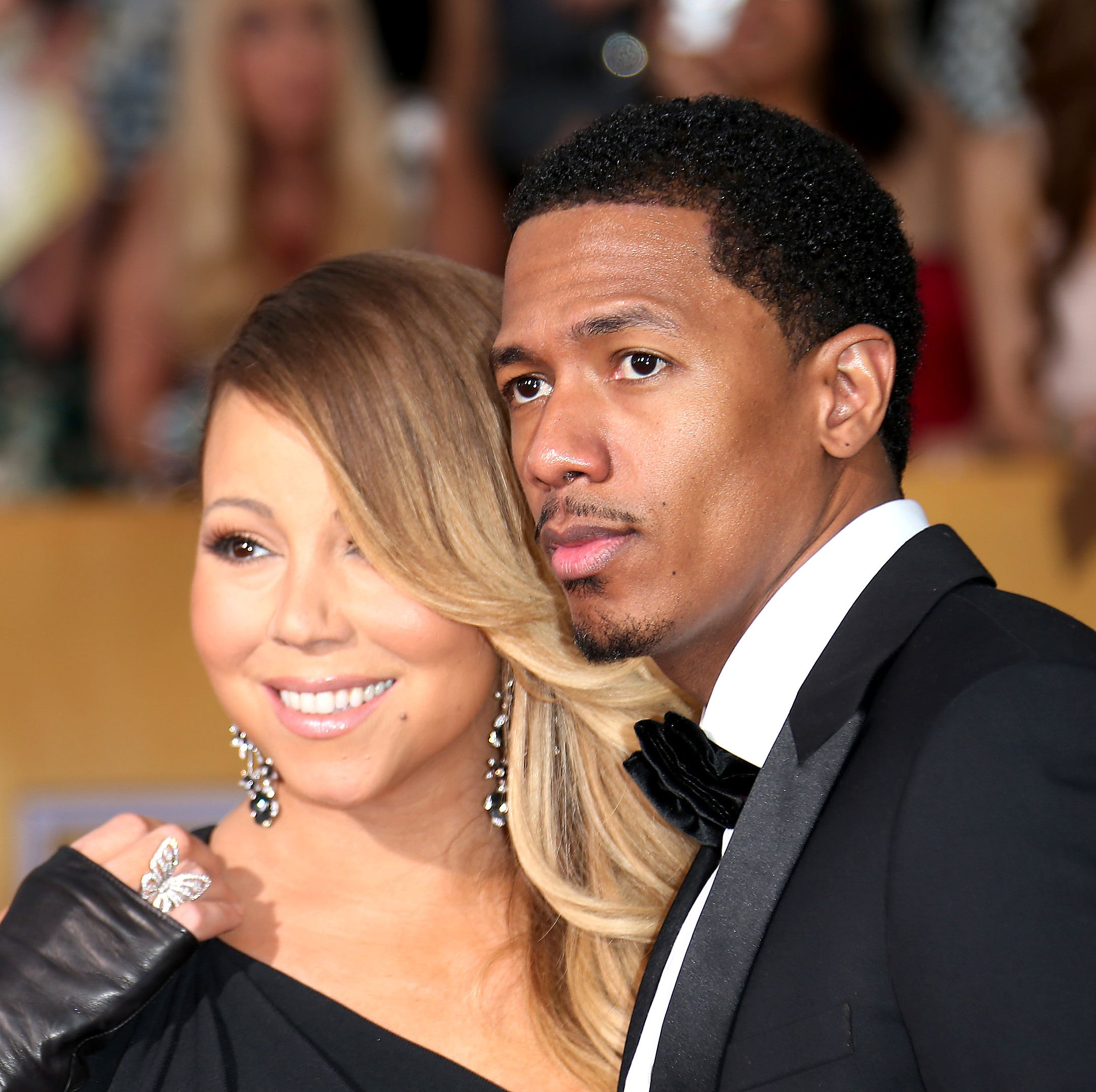 Mariah Carey and Nick Cannon People raised eyebrows when Mariah and Nick first got together, given that she was 11 years his senior. But Nick seemed so smitten with Mariah (he even tattooed her name across his back) that it looked like it was destined to work.