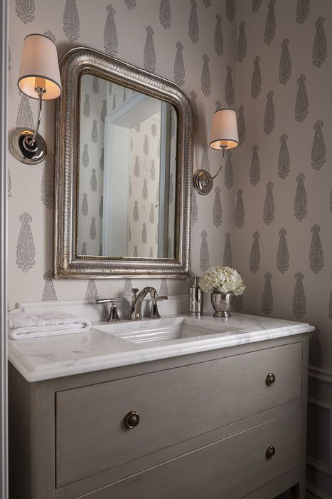 30 powder rooms ideas small space decorating - Small powder room decor ...