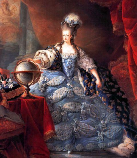 marie antoinette, queen consort of france 1755   1793 marie antoinette, queen of france, in coronation robes by jean baptiste gautier dagoty, 1775