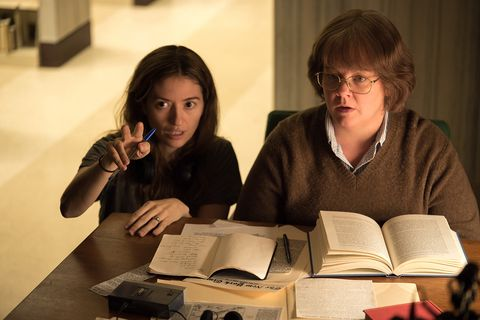 Marielle Heller directing Melissa McCarthyinCan You Ever Forgive Me?