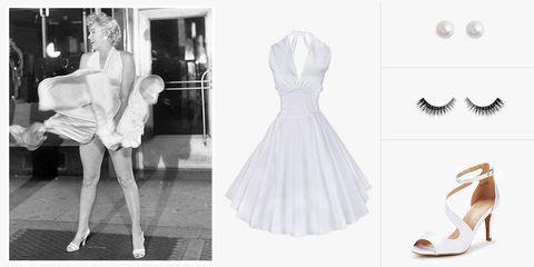 marilyn monroe white dress costume