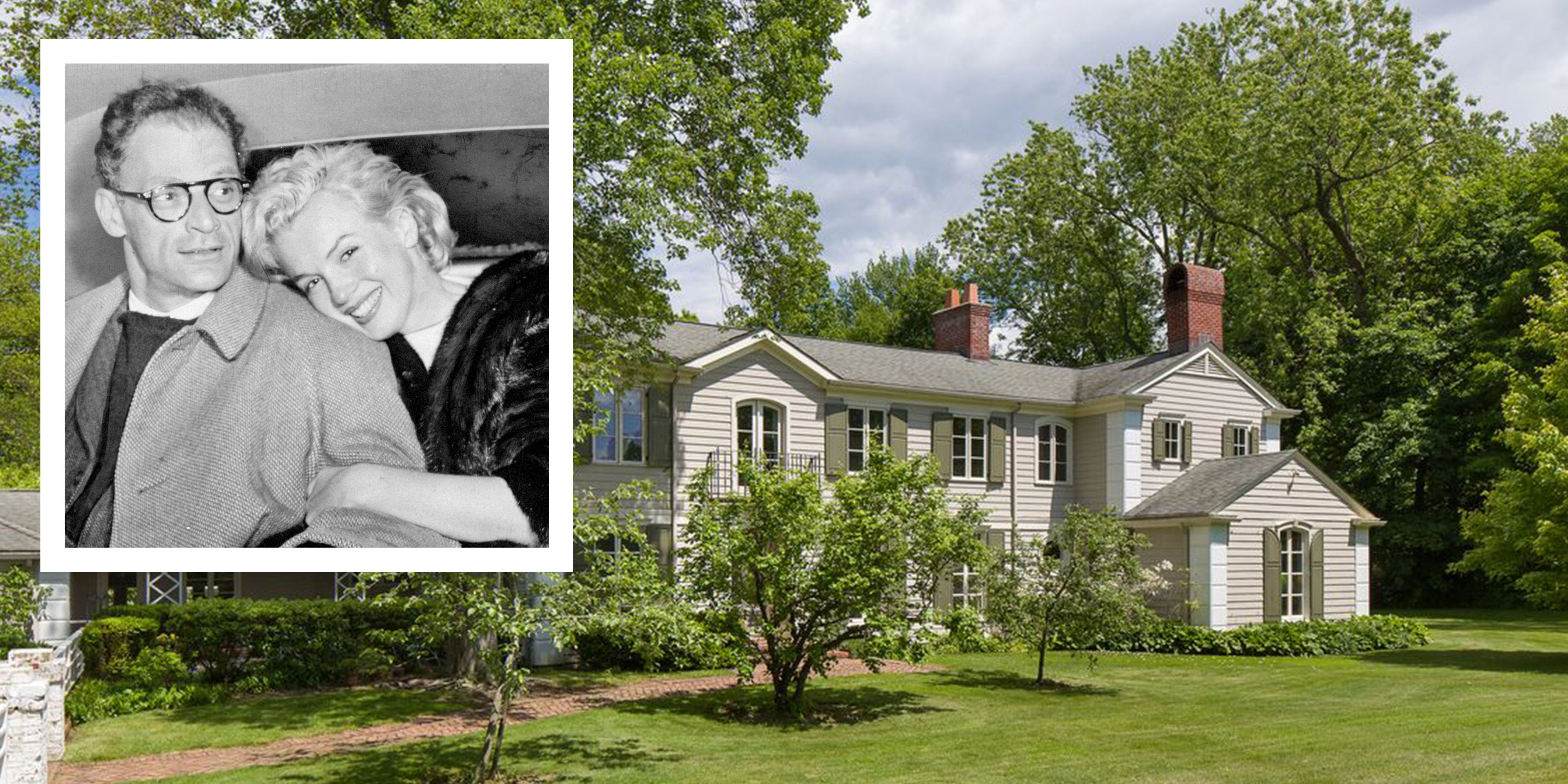 marilyn monroe arthur miller westchester wedding house for sale