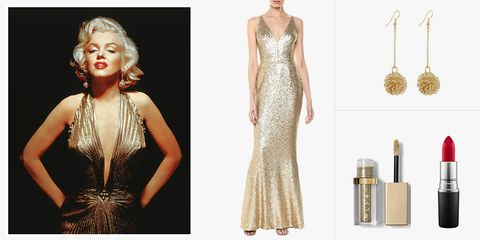 Marilyn Monroe gold dress costume