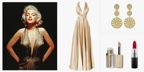 marilyn monroe gold dress costume
