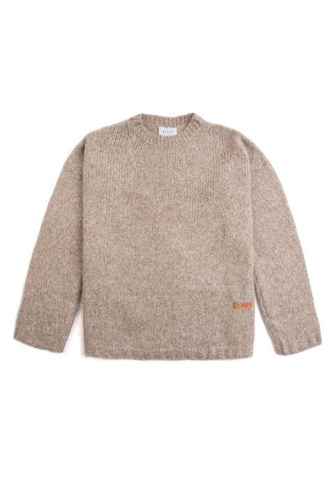 blade ldn light brown knitted jumper sweater knitwear