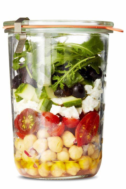 Marinated Chickpea Greek Salad