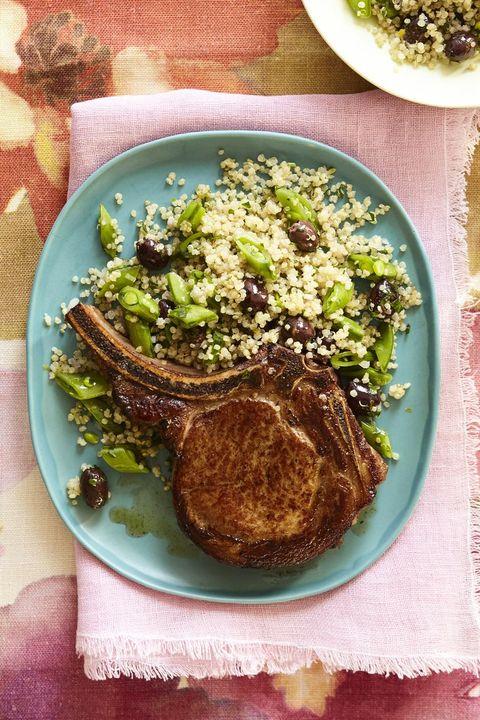 marinated pork chops with quinoa salad