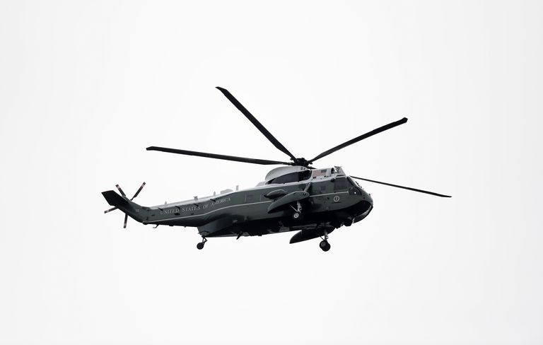 Marine One flying over the UK, June 2019. Alex Davidson Getty Images