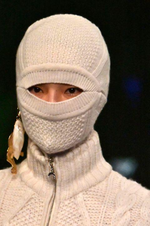 Face, Clothing, Head, Balaclava, Knit cap, Fashion, Neck, Headgear, Outerwear, Woolen,
