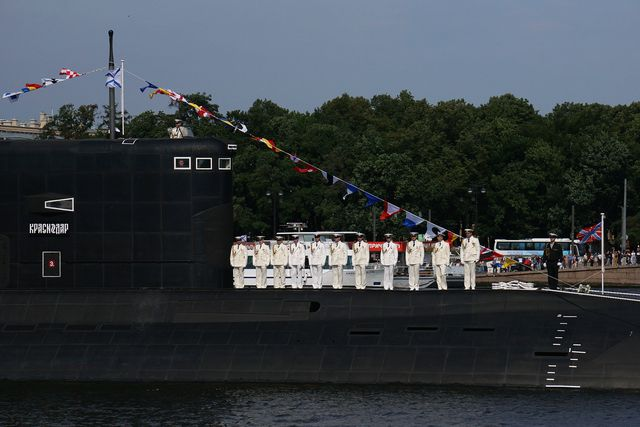 celebrations are held for the annual russian navy day