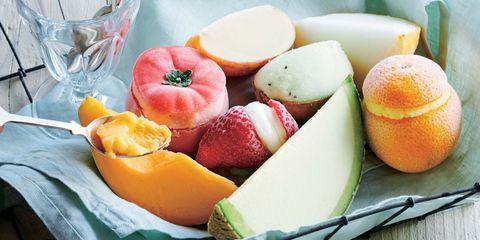 Food, Fruit salad, Peach, Fruit, Cantaloupe, Dish, Muskmelon, Ingredient, Cuisine, Apricot,