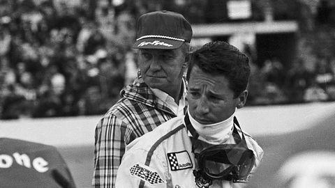 mario andretti waiting to resume racing