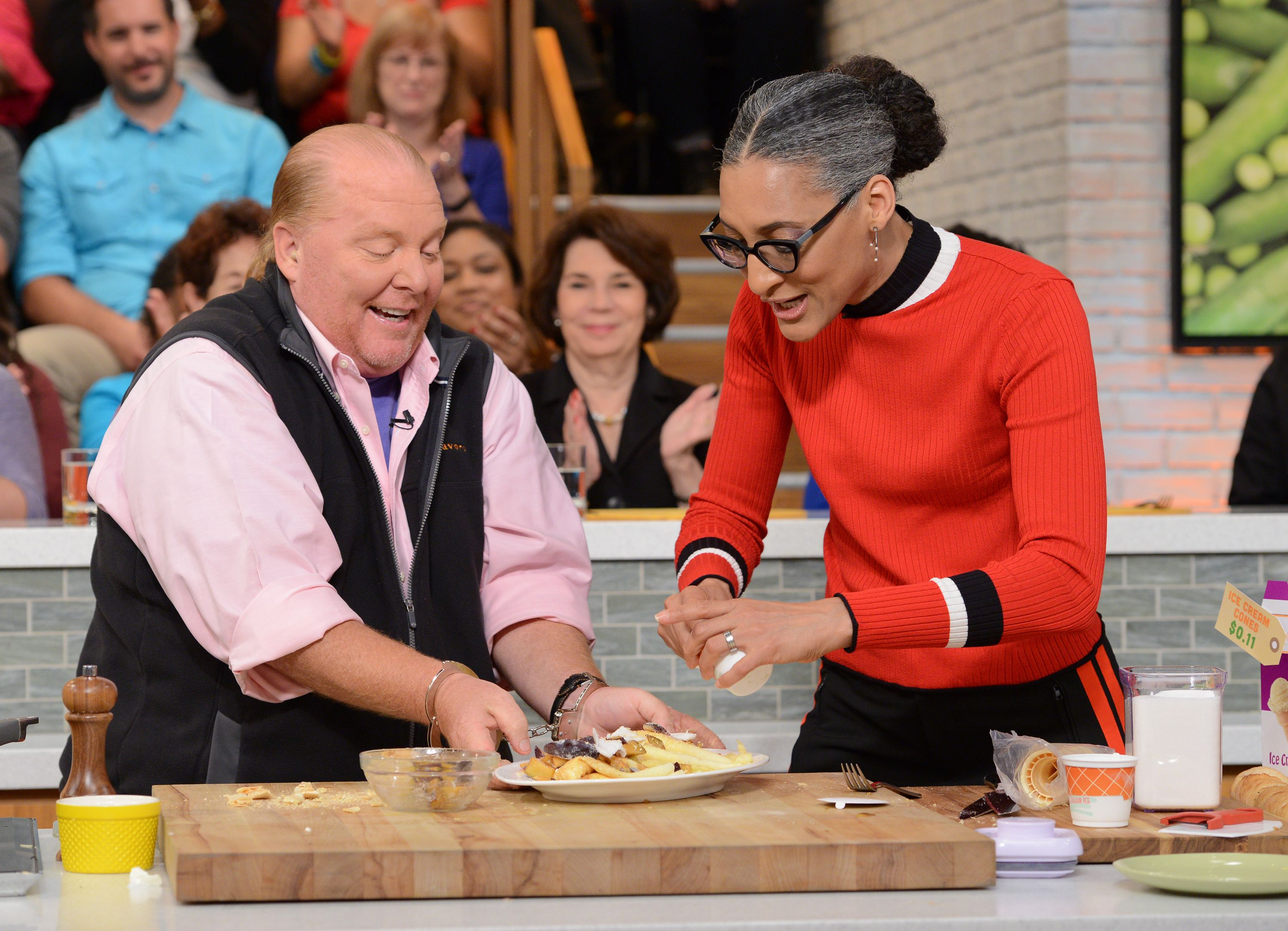 "Mario Batali and Carla Hall on ""The Chew"""