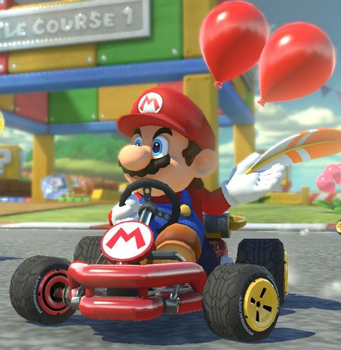Mario, Kart racing, Cartoon, Vehicle, Mode of transport, Toy, Games, Go-kart, Fictional character, Toy vehicle,