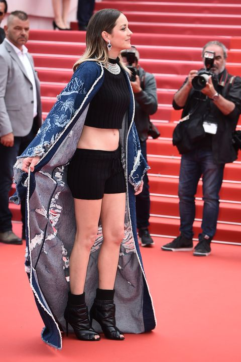 Marion Cotillard S Cannes Outfit Makes Workout Shorts Feel Like