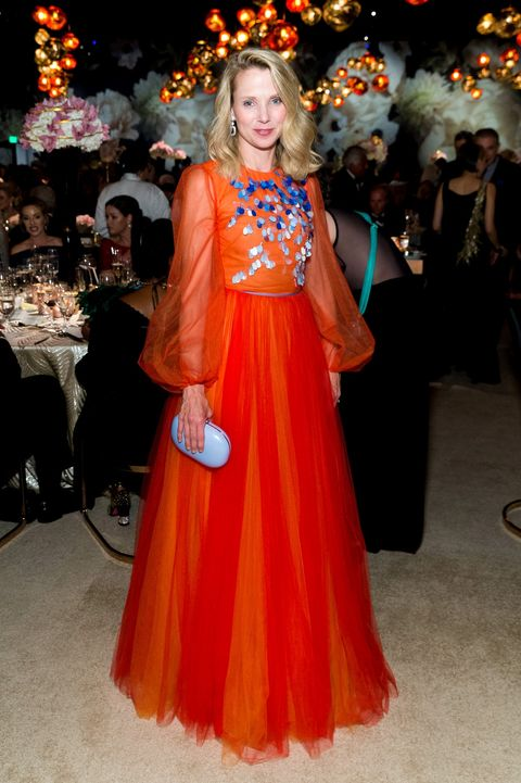 Clothing, Orange, Dress, Fashion, Beauty, Gown, Formal wear, Fashion model, Event, Haute couture,