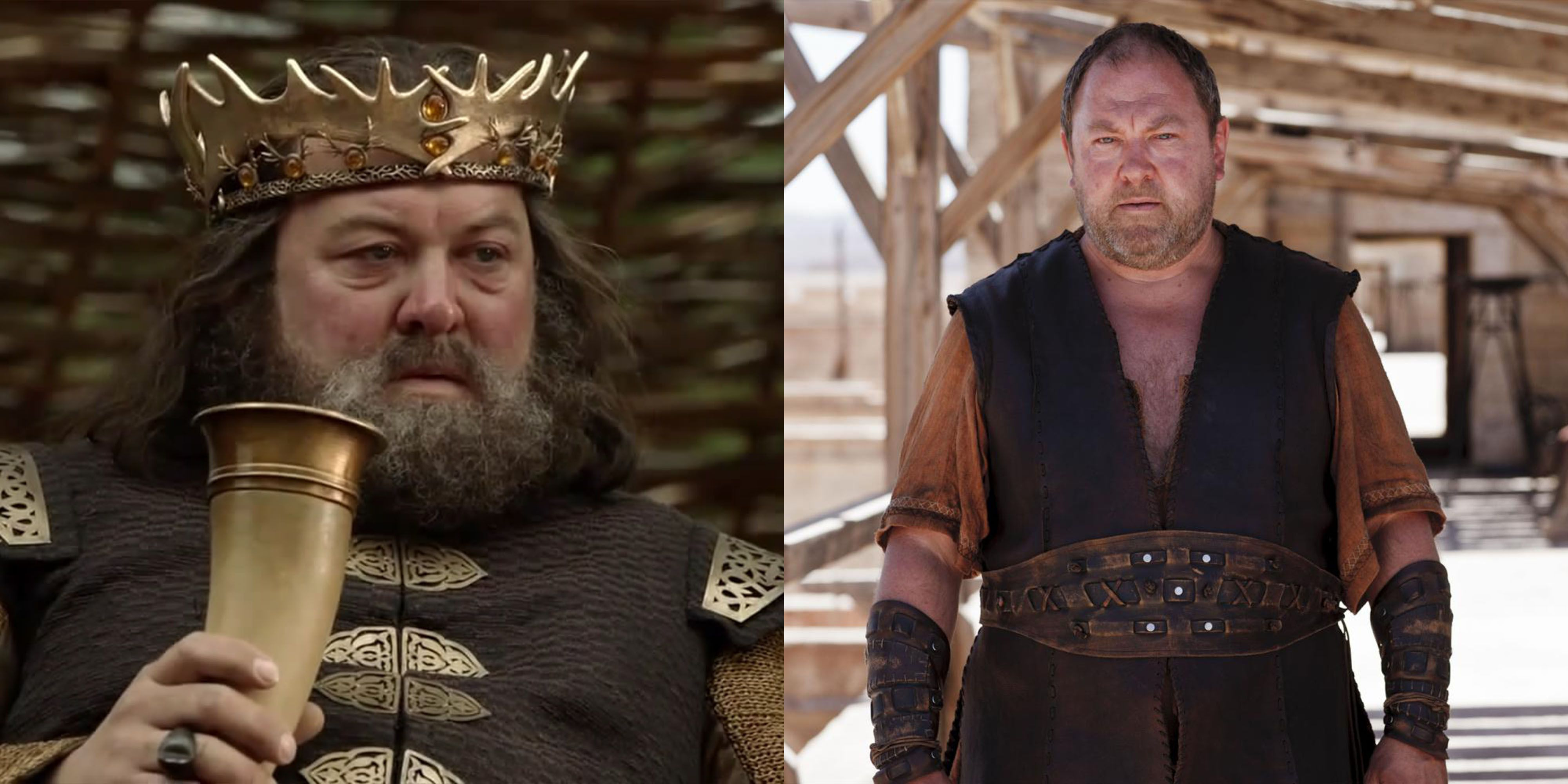 Mark Addy Addy played Robert Baratheon, the king whose death sets the titular game of thrones into action. After GOT , he went on to star on the BBC's Atlantis , as Hercules.