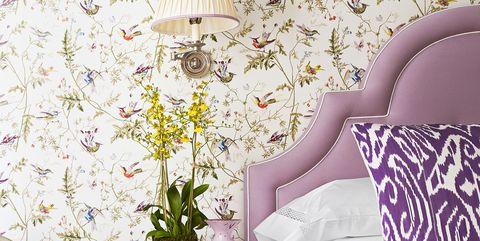 Mark D Sikes Purple Bedroom