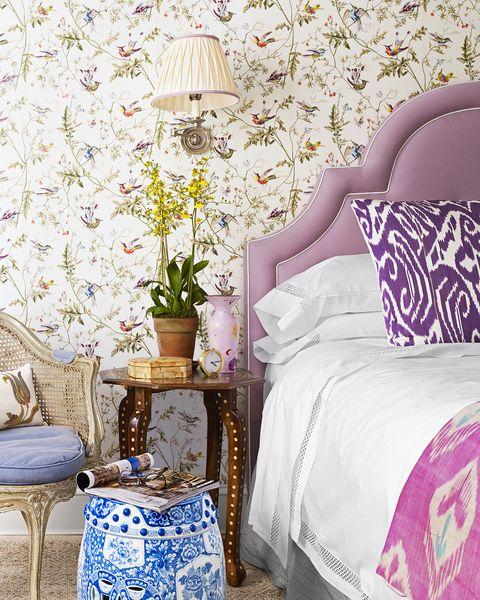 mark d. sikes purple bedroom