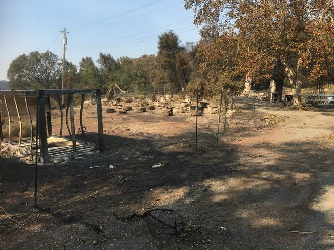 Cultivator Mark West's garden in northeastern Santa Rosa burned down early Monday morning. Photo courtesy of Mark West