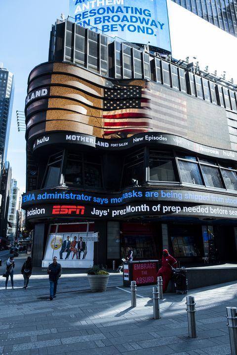 New York City Times Square: Coronavirus