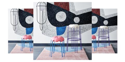 Modern art, Wall, Art, Interior design, Visual arts, Design, Furniture, Room, Painting, Illustration,
