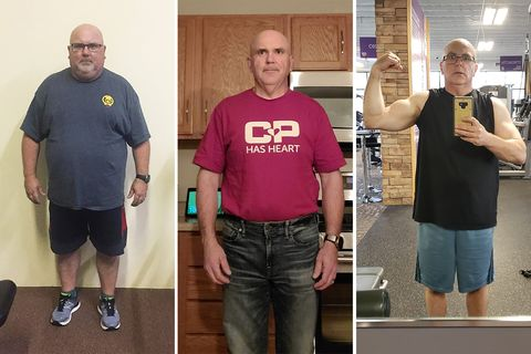 Mark Johnson was 286 pounds. After he changed his eating and exercise habits, he was able to run off 119 pounds.