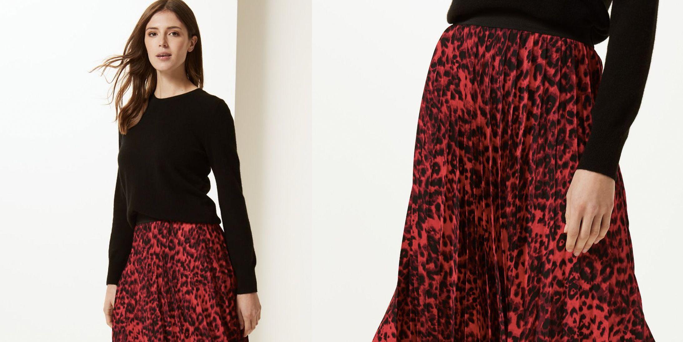 Marks & Spencer animal print skirt