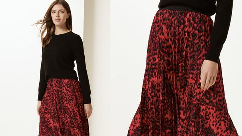 a87fedd38a Marks & Spencer has just released a new animal print midi skirt