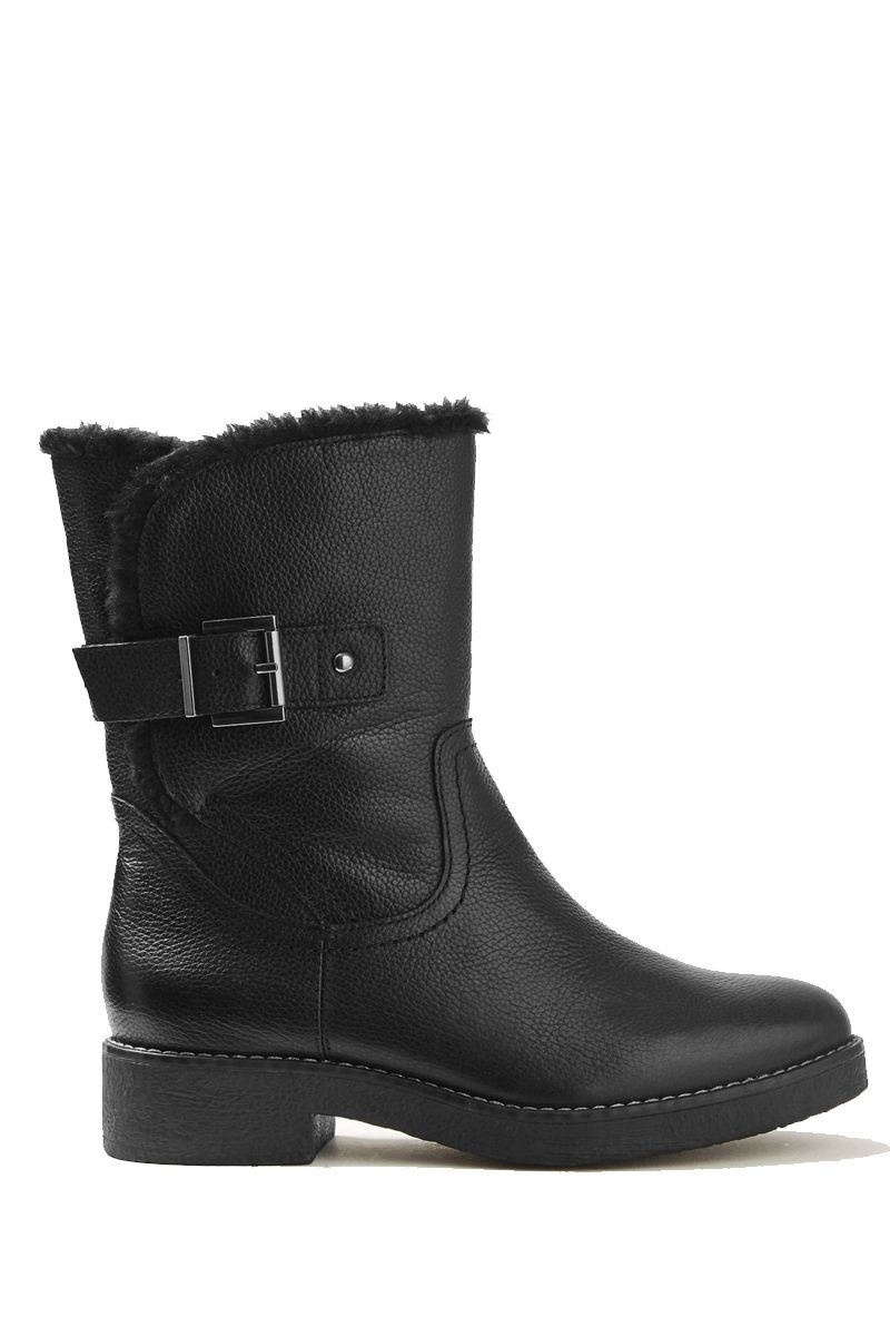 Marks & Spencer black biker boots