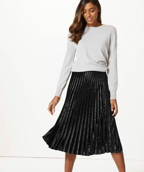 8fcd530ce0 Marks & Spencer midi skirt - M&S's velvet skirt that is perfect for ...