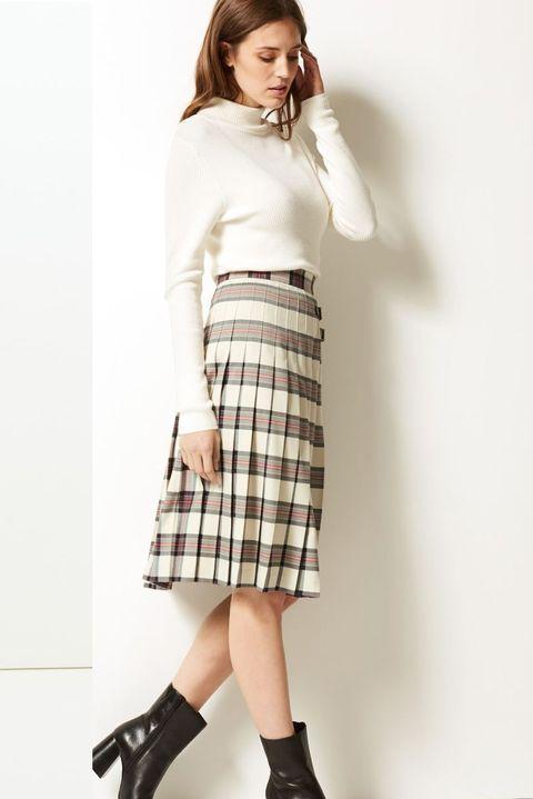 Marks & Spencer checked skirt