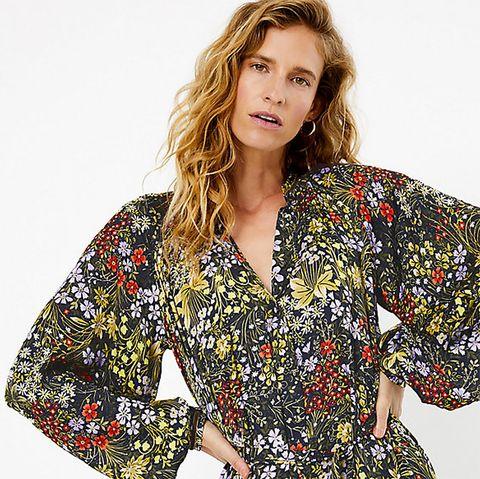 Marks & Spencer floral midi dress