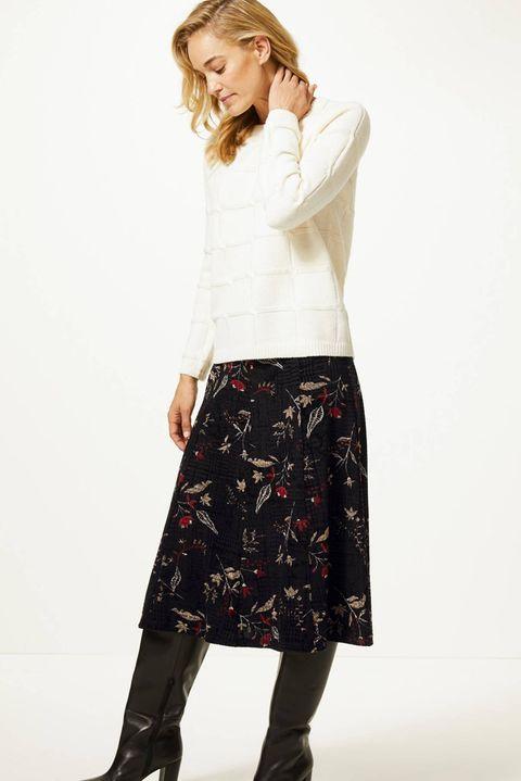 Marks & Spencer  Floral Print Midi Skirt