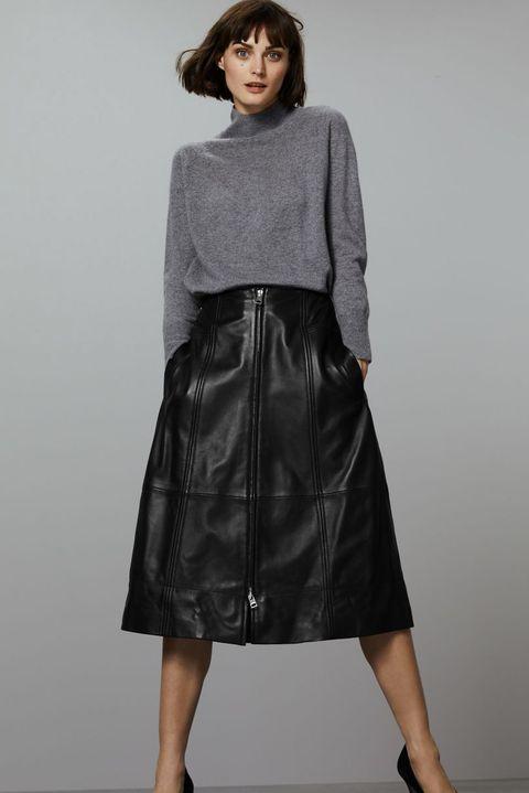 Marks & Spencer leather skirt