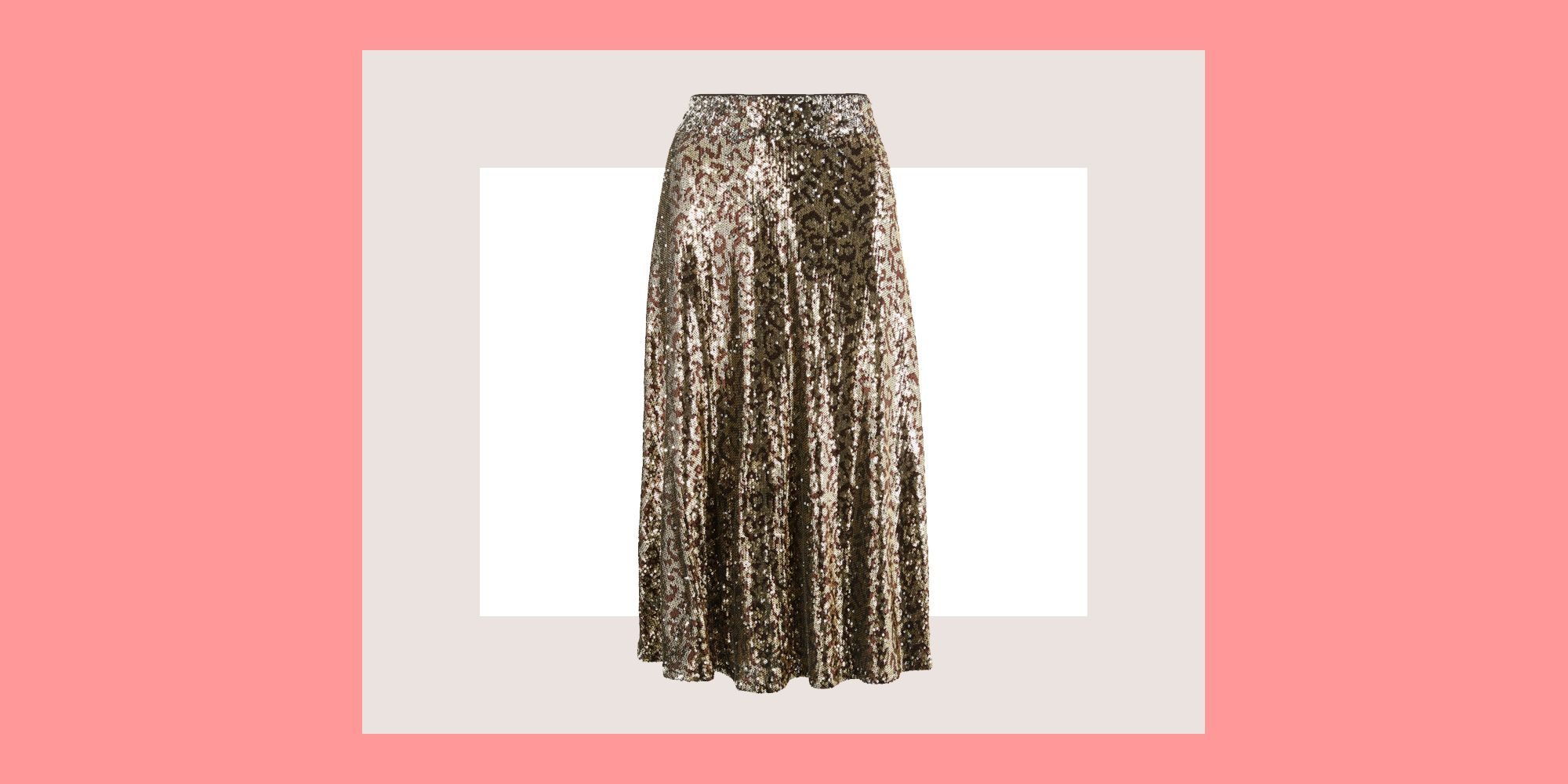 Marks & Spencer is selling the sequin leopard print skirt of dreams for party season