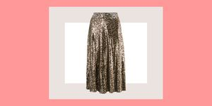 Marks & Spencer leopard print sequin skirt