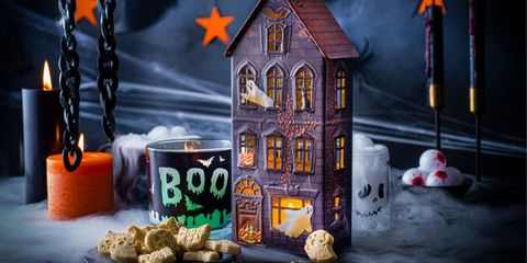 marks and spencer light up halloween biscuit tins