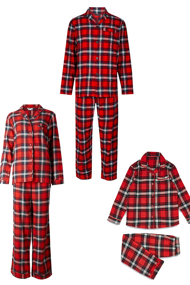 Marks & Spencer checked family pyjamas
