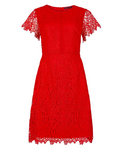 Marks & Spencer red lace dress