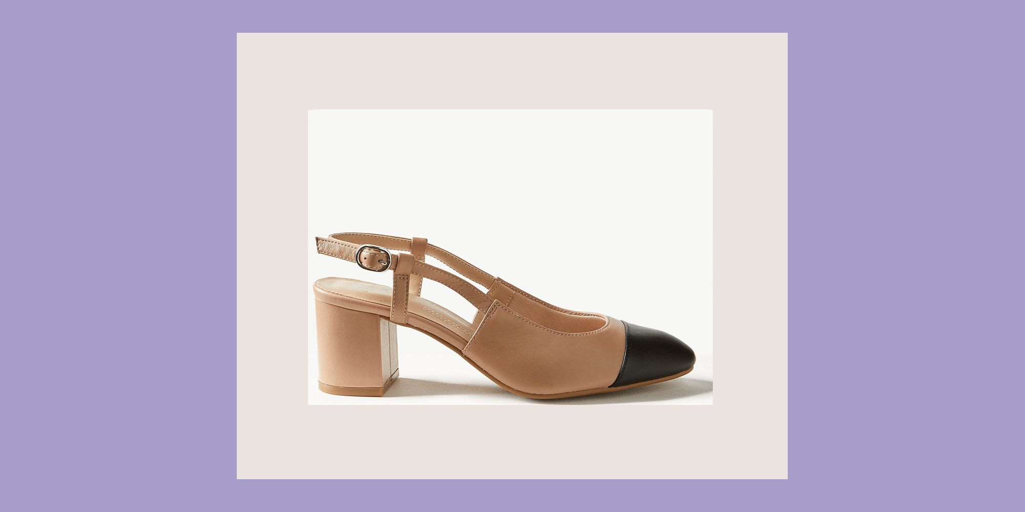 Marks & Spencer's sell-out beige and black slingback heels are back for spring