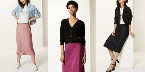 6b2ad7a6e2 Marks & Spencer slip skirt - M&S is selling the skirt of the season ...