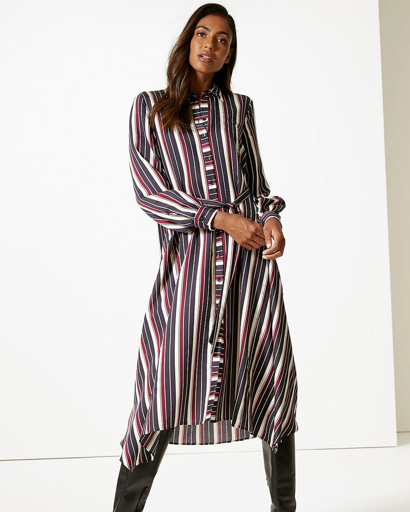 Marks & Spencer striped shirt dress