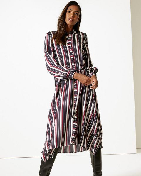 Marks & Spencer striped shirt dress